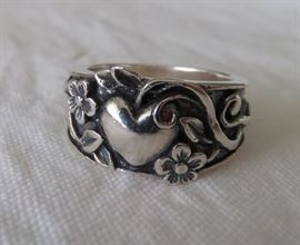 Retired James Avery Sterling Silver Ring