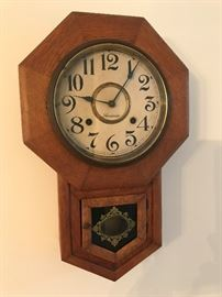Antique Ansonia 8 Day Schoolhouse Wall Clock $ 120.00