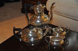 Four piece Tea/Coffee Sheffield Silver Plate tea set