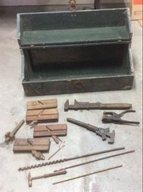Antique Tool Box and Tools