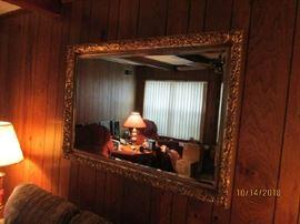 Lg. framed beveled mirror