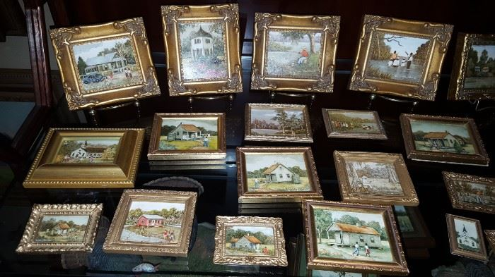 Collection of Miniature Oil Paintings by Myra Blanchard