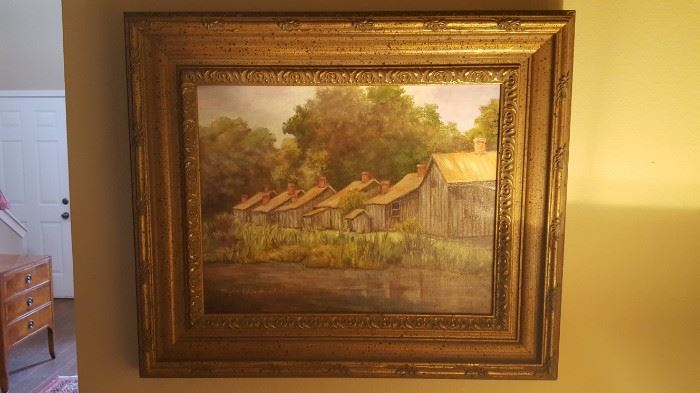 Oil Painting of Laurel Valley Plantation by Myra Blanchard