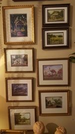 Collection of Small framed prints of Blanchard Paintings