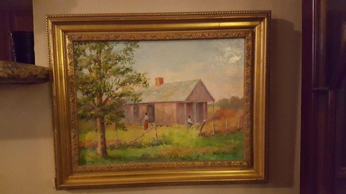 Original Painting of Melodia Shotgun by Myra Blanchard