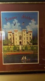 Louisiana Statehouse print by Jim Blanchard  (framed)