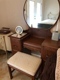 Antique Vanity w/Stool