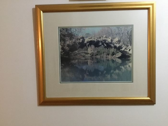 Framed and matted picture