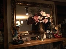 Lovely mirror with decor items