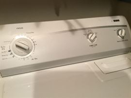 Close up of dryer settings