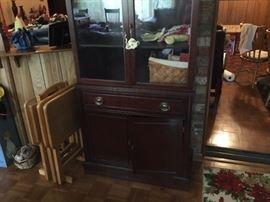 Picture of the bottom of the china cabinet