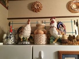 Some of the Chicken/Rooster/Egg decor