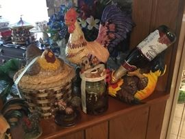 Chickens, roosters, candles with chickens & roosters - every size and shape!