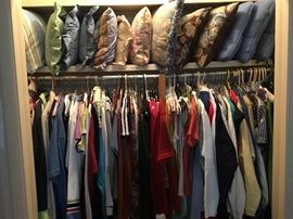 Hall closet - lots of clothes in all the closets!