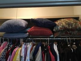 Pillows in all closets