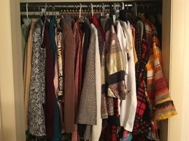 Coat closet- some still with tags