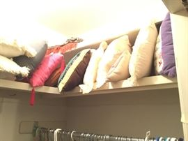 Another closet with pillows