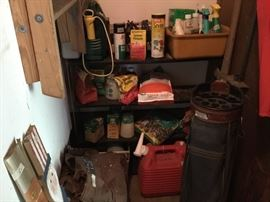 Garage has room off to left at entrance - these are items in this room