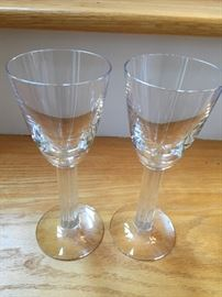Pair of Baccarat crystal stems