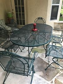 Great Patio Set- Heavy Aluminum