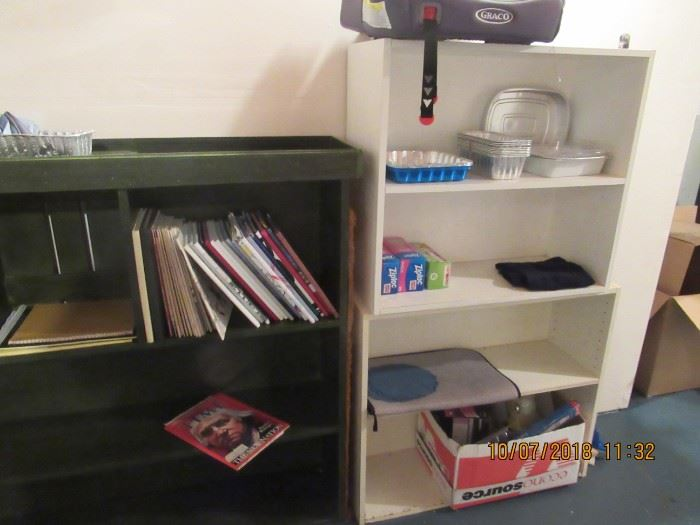book shelves and accessories