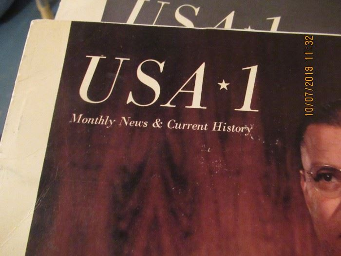 OUT OF PRINT MAGAZINES FROM THE 1960'S USA 1  DEBUT WAS APRIL 1962THROUGH AUGUST 1962
