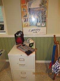 boxing gloves,file cabinet, misc