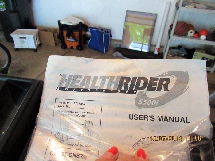 HEALTHRIDER S5001 TREADMILL