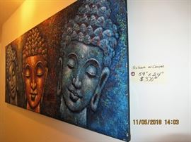 BUY IT NOW,  BUY IT NOW,  $370.00 Textured on canvas large 59 x 24