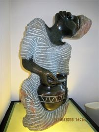 """BUY IT NOW,  BUY IT NOW,  PRICE $2,100.00  called the """"rain goddess"""" purchased in Africa, made of stone, appx 250 pounds"""