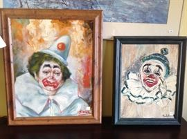 Original clown oil on canvas