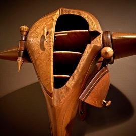 "Giles Gilson, ""Winged Jewelry Box,"" wood, 1980"