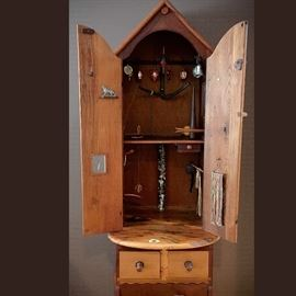 """Tommy Simpson, """"Home at Last,"""" cupboard, 1986"""