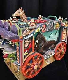 "Frank Heller, ""Circus Box,"" wood, 1981"
