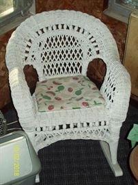 Childs Wicker Rocking Chair