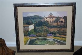 LARGE FRAMED PRINT - TUSCAN DECOR