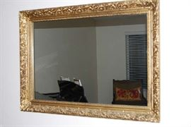 ANTIQUE FRAMED WALL MIRROR