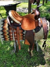 Vintage Simco Saddle, blanket and breast collar