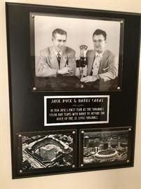 Jack Buck & Harry Caray, 1954 KXOK,  Sportsman's Park & the Then, new Busch Stadium