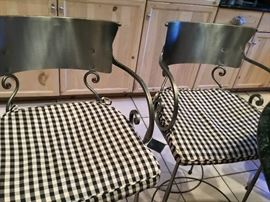 Set of 5 iron barstools with custom pads $225 each