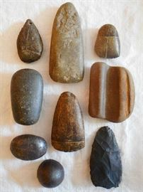 NATIVE AMERICAN INDIAN ARTIFACTS: POINTS, CELTS & CONES