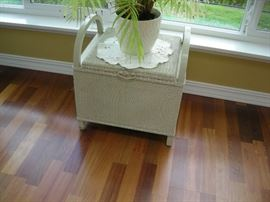 Antique commode and plant
