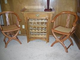 Wine cabinet with matching chairs
