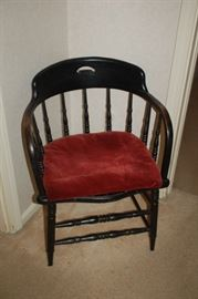 Wood curved back chair