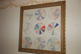 Quilted wall piece