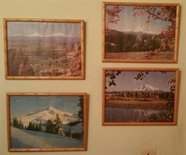 Mount Rainier and vintage frames