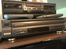 Technics cassette player and Cd player