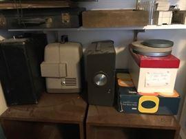 •Vintage film Equipment •Slides and Super 8 Film Reels •Super 8 film projector  slides, photos
