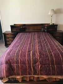 MCM Bassett Full size Headboard with nightstands