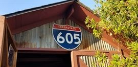 1964 porcelain 605 fwy sign.....605 opened in 1964....in 1965 they went to reflective signs.....never seen another....
